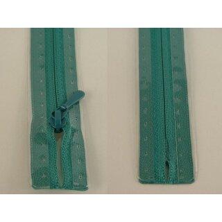 RV geschlossen/ 4 mm nahtfein Kunststoffspirale/ 60 cm/ blaugrün