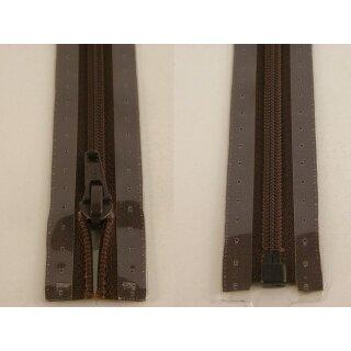 RV teilbar/ 5 mm Kunststoffspirale/ 75 cm / dunkelbraun