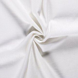 Ramie - Leinen uni weiß