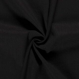 Ramie - Leinen uni schwarz