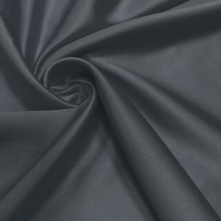 Stretch Satin - Stoff anthrazit