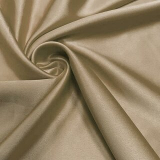 Stretch Satin - Stoff beige