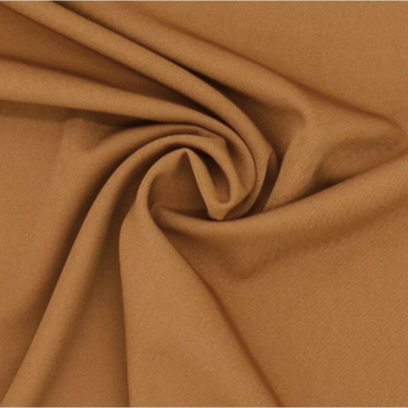 Stretch - Stoff uni caramel