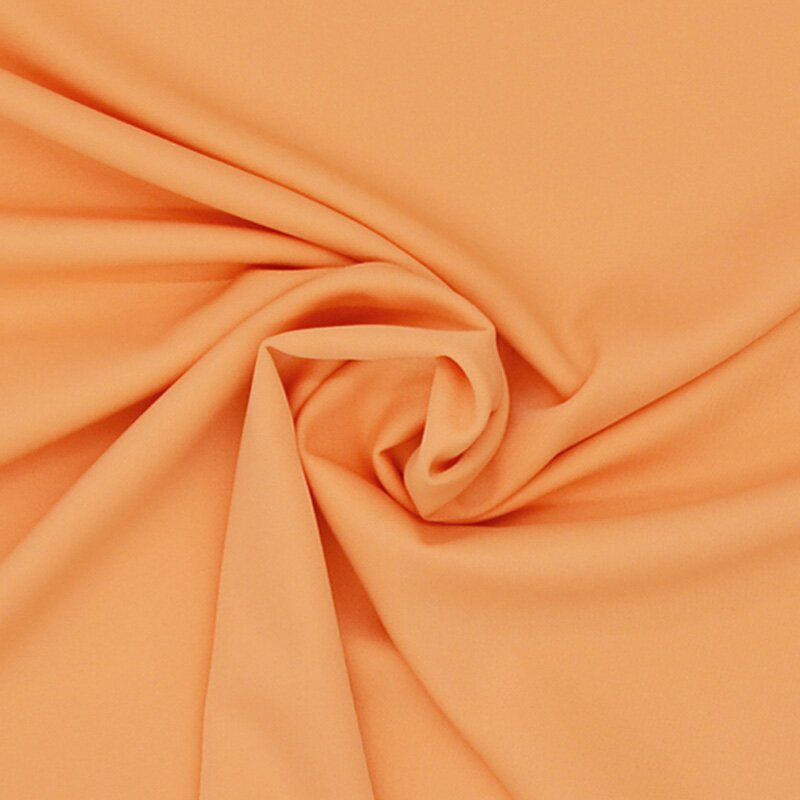 Stretch - Stoff uni apricot