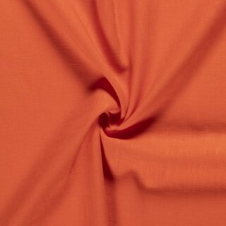 Ramie - Leinen uni orange