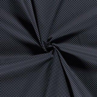 Baumwoll - Stoff Punkte klein dunkelblau