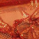 Pailletten - Stoff rund uni rot