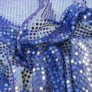 Pailletten - Stoff rund uni blau