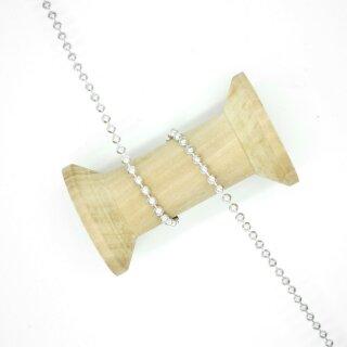 Perlenborte silber 4 mm