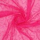 Tüllspitze mit Pailletten pink