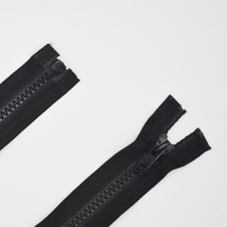teilbarer Reißverschluss Plastikprofil schwarz A 65 cm