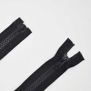 teilbarer Reißverschluss Plastikprofil schwarz A 70 cm