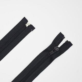 teilbarer Reißverschluss Spirale schwarz B 80 cm