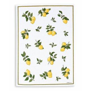 Halbleinen - Geschirrtuch Zitronen