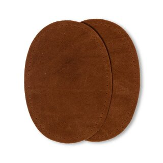 Patches Velourslederimitat/ camel