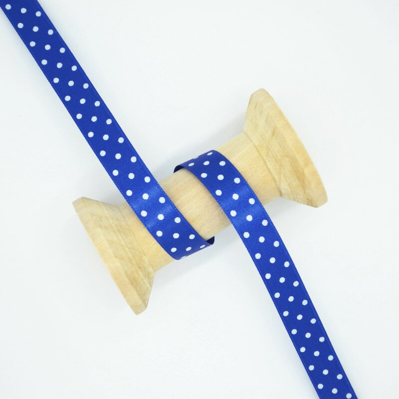 Satinband Polka Dots royal