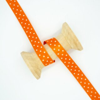 Satinband Polka Dots orange