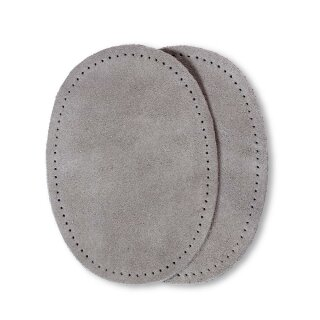 Patches Veloursleder/ grau