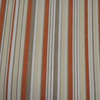 Markisen - Stoff Streifen Terracotta
