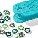 NF-Druckknöpfe/ Jersey/ Kappe lackiert/ grün/ 8 mm