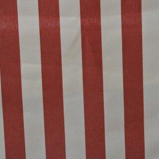 Markisen - Stoff weiß/ rot