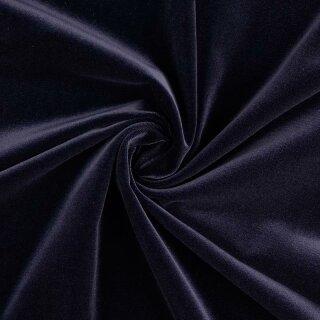 Baumwollsamt dunkelblau