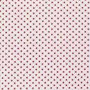 Baumwoll - Stoff Punkte 0,5 cm weiß/rot