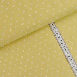 Trachtenstoff Sumpfwiese gelb