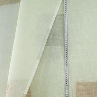 Voile - Stoff HT 63 Square braun
