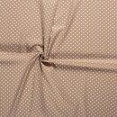 Baumwoll - Stoff Punkte 0,5 cm beige/weiß