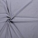 Baumwoll - Stoff Punkte 0,5 cm grau/weiß