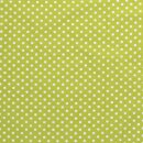 Baumwoll - Stoff Punkte 0,5 cm hellgrün/weiß