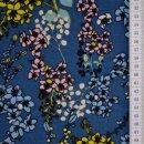 Alpenfleece Kirschblüte blau