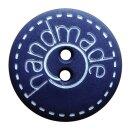 Kinderknopf Handmade blau