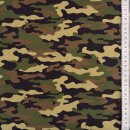 Baumwolldruck Camouflage grün