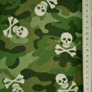 Baumwolldruck Knochentarnung grün