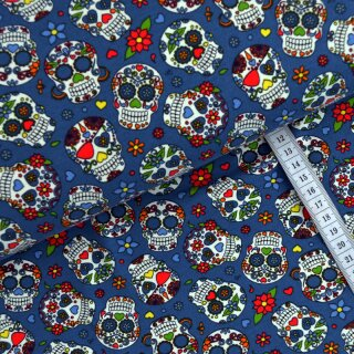 Kinderjersey Skulls in Love blau