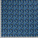 Baumwolldruck General blau