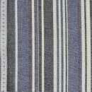 Halbleinen Streifen blau-schwarz