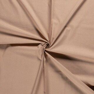 Baumwoll - Stoff Punkte klein beige