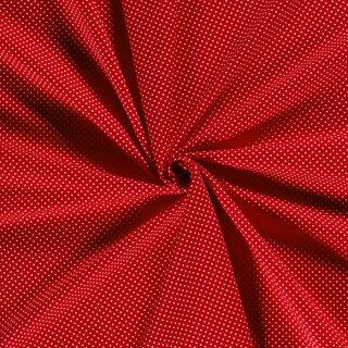 Baumwoll - Stoff Punkte klein rot