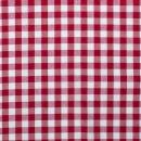 Baumwoll - Stoff Karo groß rot