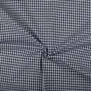 Baumwoll - Stoff Karo midi dunkelblau
