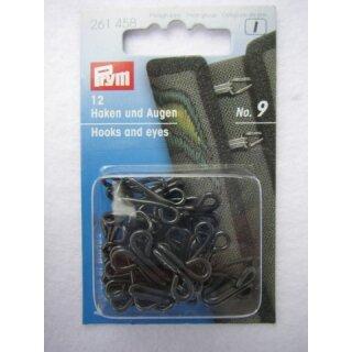 Joppenhaken und -augen (Eisen)/schwarz