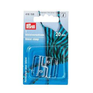 Bikini- und Gürtelverschlüsse/ Haken/ transparent/ 20 mm