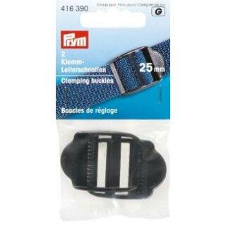 Klemm- Leiterschnallen/ schwarz/ 25 mm