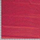 Baumwollpopelin Herzchen klein rot