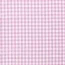 Baumwoll - Stoff Karo mittel rosa