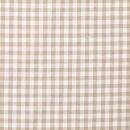 Baumwoll - Stoff Karo mittel beige