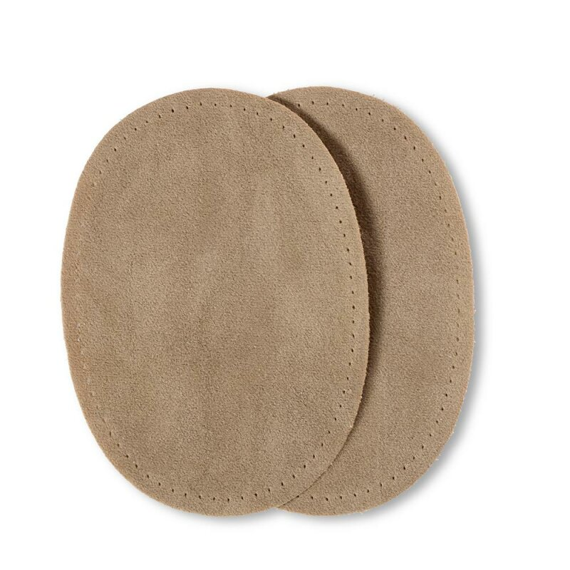 Patches Velourslederimitat/ beige